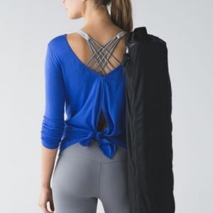 Lululemon blue tie back Zen Bender shirt